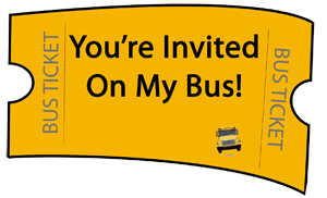 Email A Co Worker, Employee Or Friend A Bus Ticket And Invite Them To Join  The Ride. (printable Tickets Also Available).  Bus Pass Template